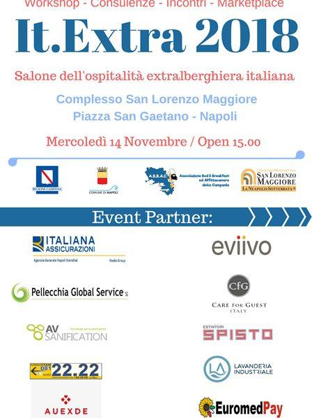 Napoli, c'è It-Extra, il primo salone extralberghiero italiano, mercoledì 14 novembre a San Lorenzo Maggiore