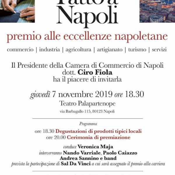 """""""Fatto a Napoli"""", anche L'Abbac tra le associazioni organizzatrici. Tre le imprese ricettive iscritte che saranno premiate. Disponibili biglietti invito"""