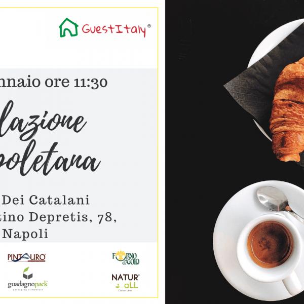 """Evento """"Colazione Napoletana"""",      15 gennaio Napoli Suite dei Catalani"""