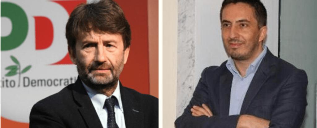Il Ministro Dario Franceschini e il coordinatore nazionale Otei/Abbac Agostino Ingenito